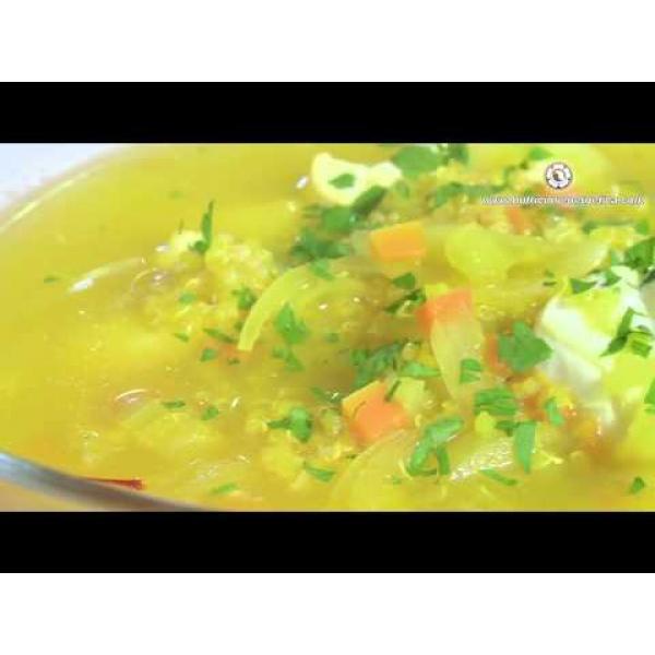 Embedded thumbnail for Sopa de rape con quinoa